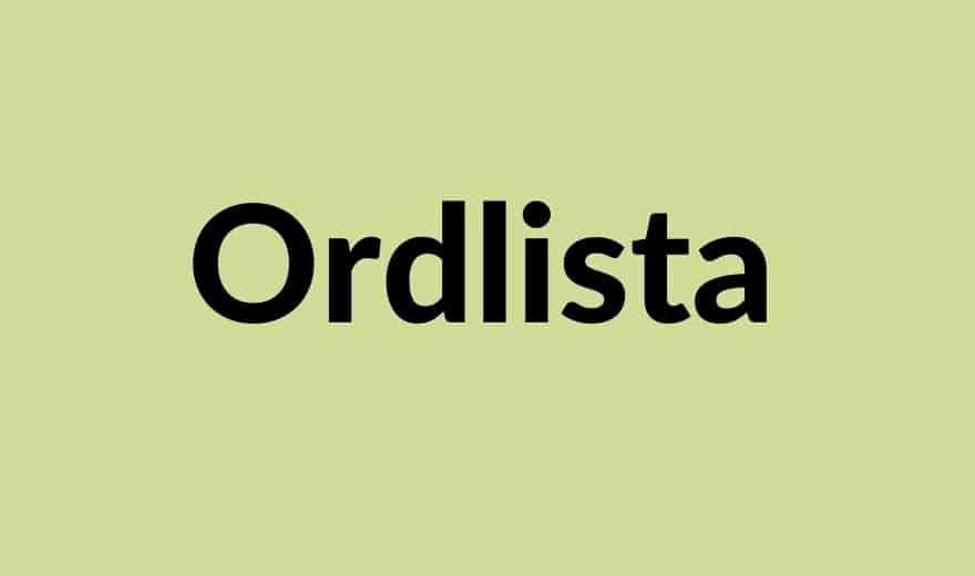 Ordlista